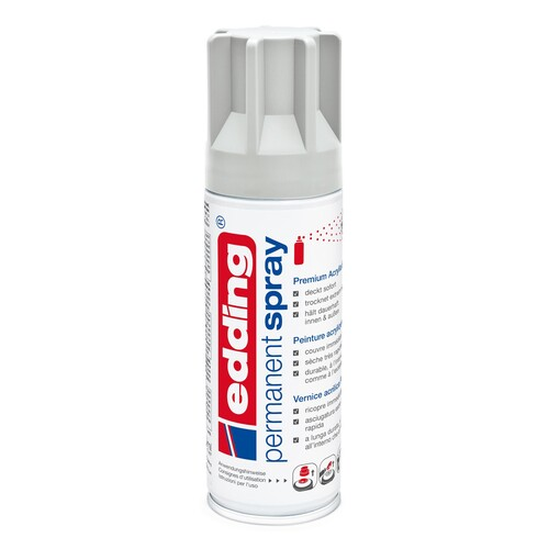 Permanent Spray 5200 200ml lichtgrau seidenmatt Edding 4-5200925 Produktbild Front View L