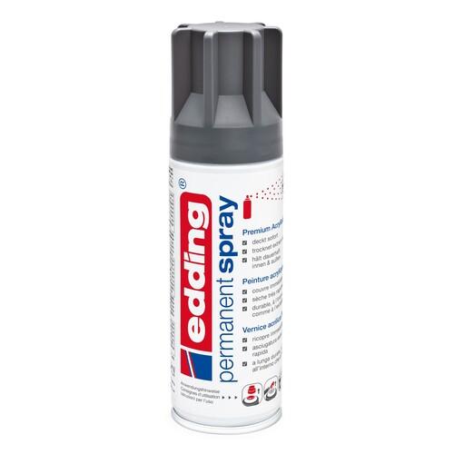 Permanent Spray 5200 200ml anthrazit seidenmatt Edding 4-5200926 Produktbild Front View L