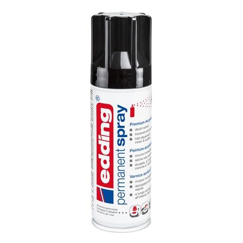 Permanent Spray 5200 200ml tiefschwarz glänzend Edding 4-5200951 Produktbild Front View L