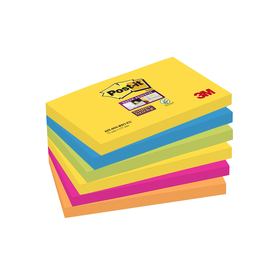 Haftnotizen Post-it Super Sticky Notes 127x76mm Rio de Janeiro Papier 3M 6556SR (ST=6x 90 BLATT) Produktbild