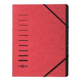 Ordnungsmappe mit 7 Fächern rot Karton 40058-01 Produktbild