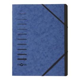 Ordnungsmappe mit 7 Fächern blau Karton 40058-02 Produktbild