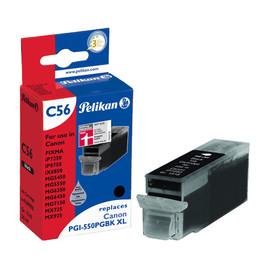 Tintenpatrone Gr. 1518 (PGI-550PGBKXL) für Pixma IP7250/MG5450 24ml pigment schwarz Pelikan 4109996 Produktbild