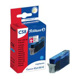 Tintenpatrone Gr. 1519 (CLI-551CXL) für Pixma IP7250/MG5450 12ml cyan Pelikan 4110015 Produktbild