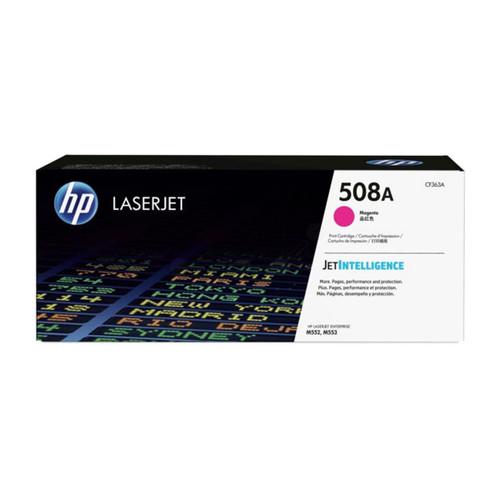 Toner 508A für Color LaserJet Enterprise M550 5000 Seiten magenta HP CF363A Produktbild Front View L