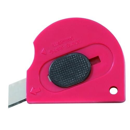 Schneidemesser Schnellschnitt Mini 9mm Kunststoffgehäuse Ecobra 770370 Produktbild Front View L