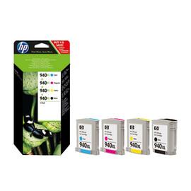 Tintenpatrone 940XL Multipack für OfficeJet 8000 59,5ml schwarz + je 19,5ml cyan+magenta+yellow HP C2N93AE (PACK=4 STÜCK) Produktbild