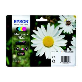 Tintenpatrone 18XL für Expression Home XP-102/202/205 Multipack 4-farbig 31,3ml Epson T181640 (ST=4 STÜCK) Produktbild