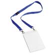Namensschild EVENT A6 mit Textilband Duo dunkelblau Durable 8525-07 (PACK=10 STÜCK) Produktbild