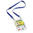 Namensschild EVENT A6 mit Textilband Duo dunkelblau Durable 8525-07 (PACK=10 STÜCK) Produktbild Additional View 1 S