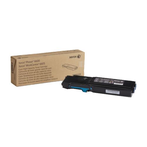 Toner für Phaser 6600/6605 6000Seiten cyan Xerox 106R02229 Produktbild Front View L