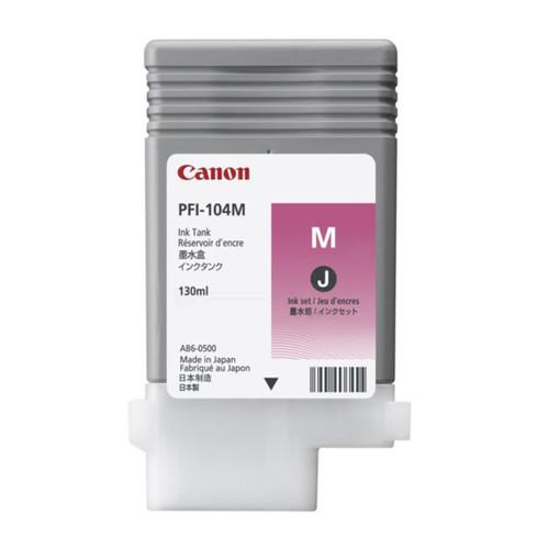 Tintenpatrone PFI-104M für Canon IPF650/655 130ml magenta Canon 3631B001 Produktbild Front View L