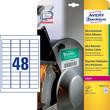 Folien-Etiketten Laser 45,7x21,2mm auf A4 Bg wetterfest+widerstandsfähig+ permanent weiß Zweckform L7911-10 (PACK=960 STÜCK) Produktbild