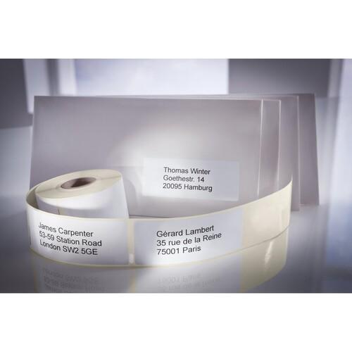 Rücksendeadress-Etiketten 25x54mm weiß permanent Zweckform AS0722520 (PACK=500 STÜCK) Produktbild Additional View 1 L
