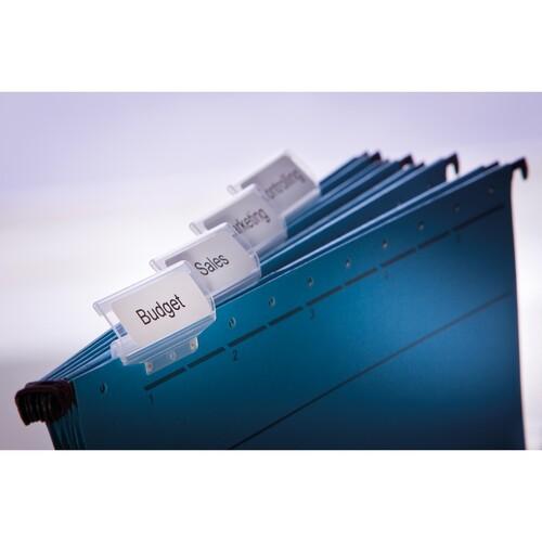 Etiketten für Hängeablage 12x50mm weiß permanent Zweckform AS0722460 (PACK=220 STÜCK) Produktbild Additional View 1 L
