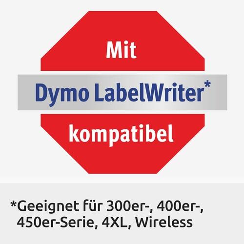 Etiketten für Hängeablage 12x50mm weiß permanent Zweckform AS0722460 (PACK=220 STÜCK) Produktbild Additional View 4 L