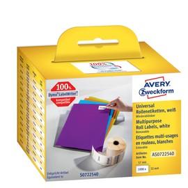 Universal-Etiketten 32x57mm weiß wiederablösbar Zweckform AS0722540 (PACK=1000 STÜCK) Produktbild