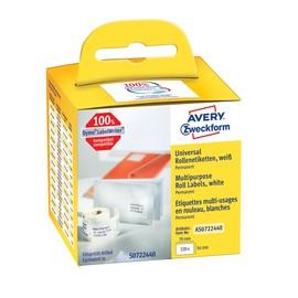 Universal-Etiketten 54x70mm weiß permanent Zweckform AS0722440 (PACK=320 STÜCK) Produktbild