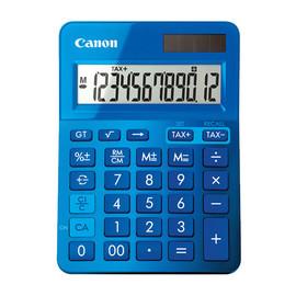 Taschenrechner 12-stelliges Display 145x104x25mm blau Solar-/ Batteriebetrieb Canon LS-123 K MBL Produktbild