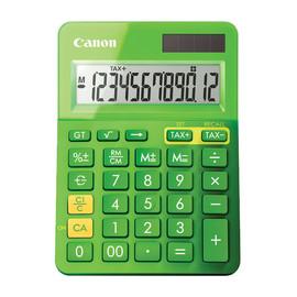 Taschenrechner 12-stelliges Display 145x104x25mm grün Solar-/ Batteriebetrieb Canon LS-123 K MGR Produktbild
