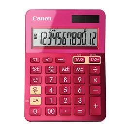 Taschenrechner 12-stelliges Display 145x104x25mm pink Solar-/ Batteriebetrieb Canon LS-123 K MPK Produktbild