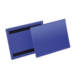 Kennzeichnungstaschen A5 quer dunkelblau magnetisch Durable 1743-07 (PACK=50 STÜCK) Produktbild