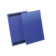 Kennzeichnungstaschen A4 hoch dunkelblau magnetisch Durable 1744-07 (PACK=50 STÜCK) Produktbild