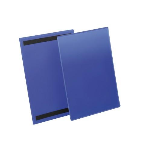 Kennzeichnungstaschen A4 hoch dunkelblau magnetisch Durable 1744-07 (PACK=50 STÜCK) Produktbild Front View L