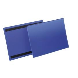 Kennzeichnungstaschen A4 quer dunkelblau magnetisch Durable 1745-07 (PACK=50 STÜCK) Produktbild