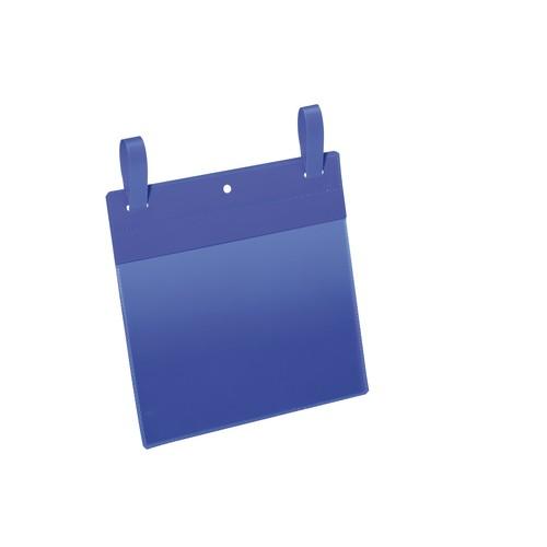 Gitterboxtaschen mit Laschen A5 quer dunkelblau Durable 1749-07 (PACK=50 STÜCK) Produktbild Front View L