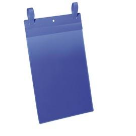 Gitterboxtaschen mit Laschen A4 hoch dunkelblau Durable 1750-07 (PACK=50 STÜCK) Produktbild