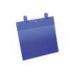 Gitterboxtaschen mit Laschen A4 quer dunkelblau Durable 1751-07 (PACK=50 STÜCK) Produktbild