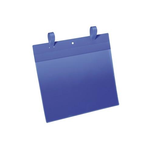 Gitterboxtaschen mit Laschen A4 quer dunkelblau Durable 1751-07 (PACK=50 STÜCK) Produktbild Front View L