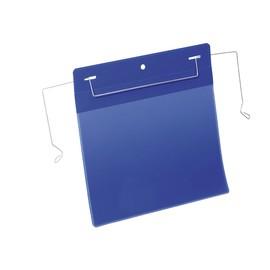Drahtbügeltaschen A5 quer dunkelblau Durable 1752-07 (PACK=50 STÜCK) Produktbild