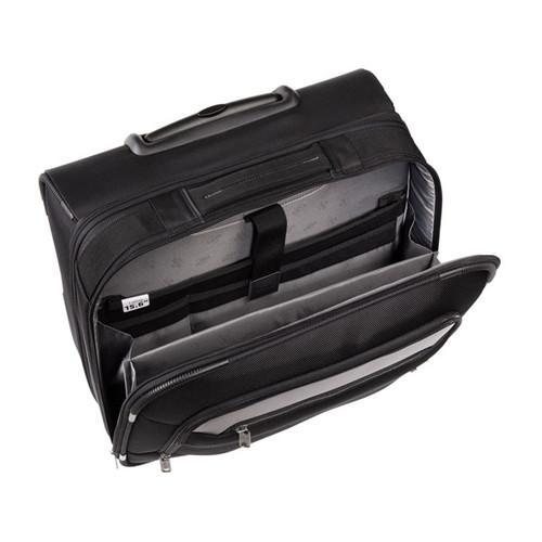"Businesstrolley mit Laptopfach 15,6"" Twill Black Polyester Hama 00129391 Produktbild Additional View 3 L"