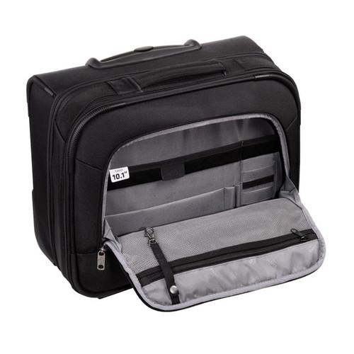 "Businesstrolley mit Laptopfach 15,6"" Twill Black Polyester Hama 00129391 Produktbild Additional View 4 L"