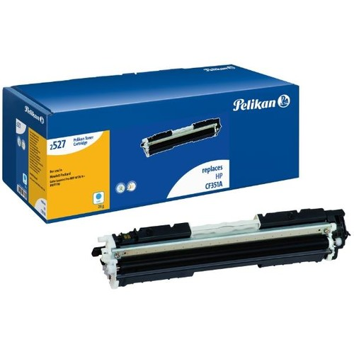 Toner Gr. 2527c (CF351A) für Color LaserJet MFP M716/M177 1000Seiten cyan Pelikan 4233899 Produktbild Front View L
