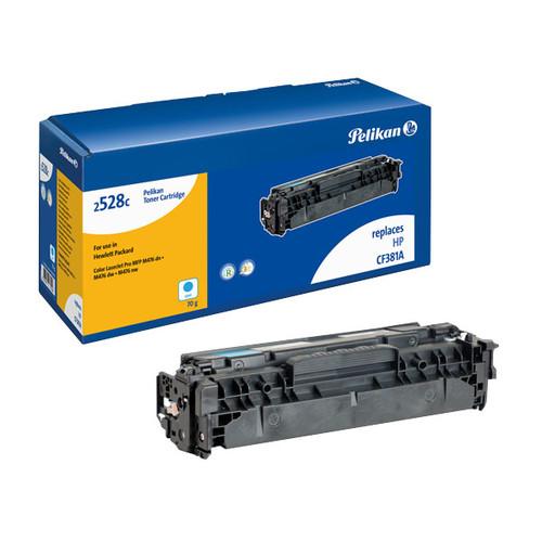 Toner Gr. 2528c (CF381A) für Color LaserJet MFP M476 2700Seiten cyan Pelikan 4236296 Produktbild Front View L