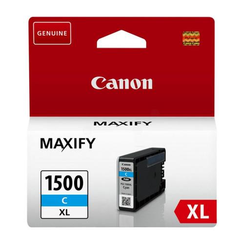 Tintenpatrone PGI-1500XLC für Canon Maxify MB2000 12ml cyan Canon 9193B001 Produktbild Front View L
