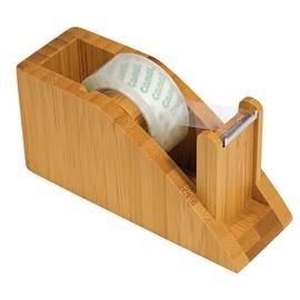 Tischabroller Bambus 118x42x58mm füllbar bis 19mm x 33m braun Holz Wedo 61907 Produktbild