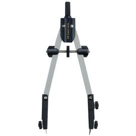 Schnellverstell-Zirkel mit abknickbaren Schenkel + Adapter Faber Castell 174035 Produktbild