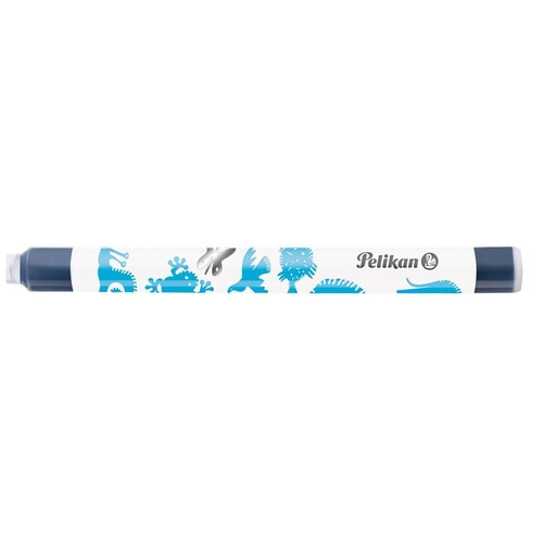 Tintenpatrone für Griffix Schulfüller P1R3/5 mit Motiv königsblau löschbar Pelikan 960583 (PACK=5 STÜCK) Produktbild Back View L