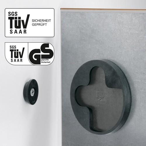 Glas-Magnetboard artverum 910x460x15mm Natural-Wood inkl. Magnete Sigel GL258 Produktbild Additional View 1 L
