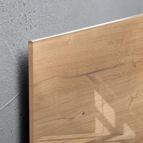 Glas-Magnetboard artverum 910x460x15mm Natural-Wood inkl. Magnete Sigel GL258 Produktbild Additional View 2 L