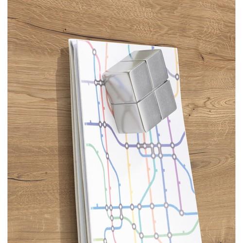 Glas-Magnetboard artverum 910x460x15mm Natural-Wood inkl. Magnete Sigel GL258 Produktbild Additional View 3 L