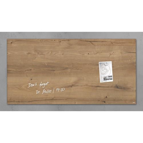 Glas-Magnetboard artverum 910x460x15mm Natural-Wood inkl. Magnete Sigel GL258 Produktbild