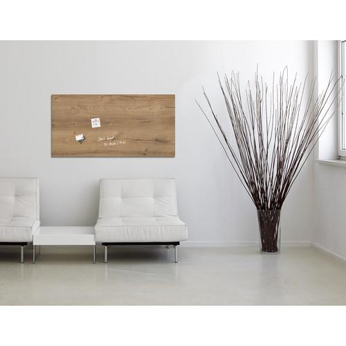 Glas-Magnetboard artverum 910x460x15mm Natural-Wood inkl. Magnete Sigel GL258 Produktbild Additional View 5 L