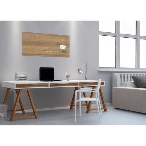 Glas-Magnetboard artverum 910x460x15mm Natural-Wood inkl. Magnete Sigel GL258 Produktbild Additional View 6 L