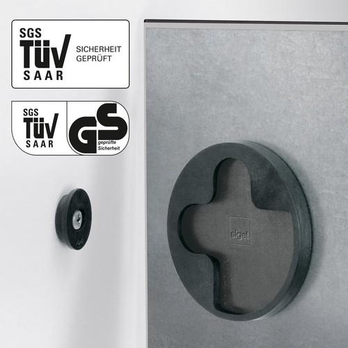 Glas-Magnetboard artverum 910x460x15mm Black-Diamond inkl. Magnete Sigel GL261 Produktbild Additional View 1 L