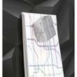 Glas-Magnetboard artverum 910x460x15mm Black-Diamond inkl. Magnete Sigel GL261 Produktbild Additional View 3 S